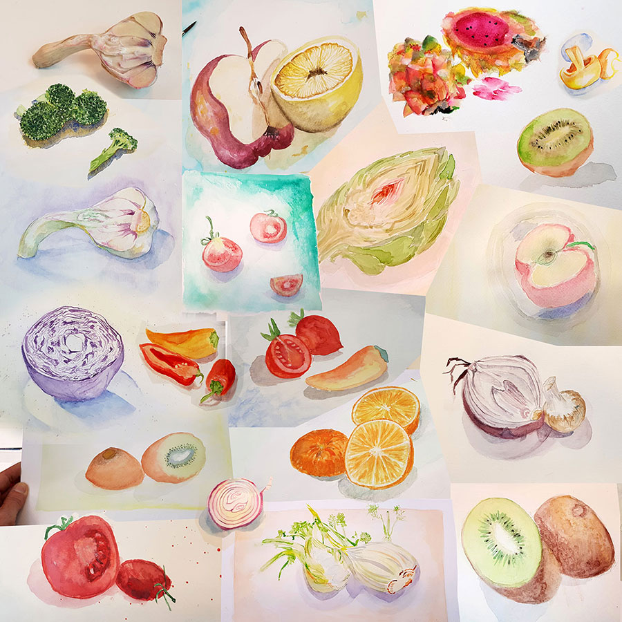 Collage-Course-By-Vered_Fruits-watercolor
